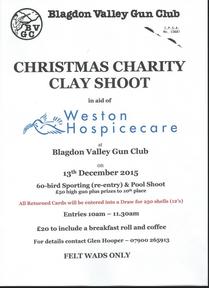 BVGC Christmas Shoot 13th December